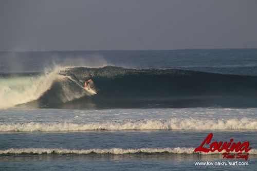 surfing at tanjung setia ujung bocur