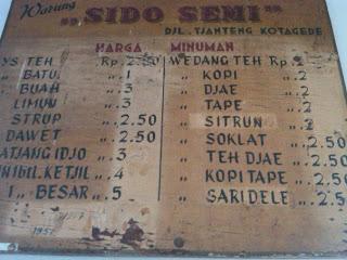 Warung Ys Sido Semi Mbok Mul. Sumber : di sini