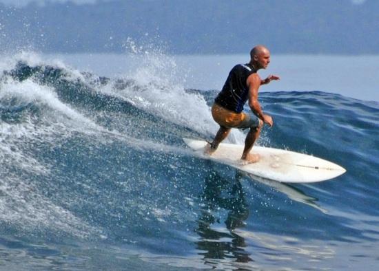 Surfing at Krui Tanjung Setia
