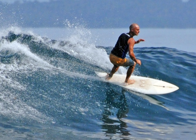 Surfing at Krui Tanjung Setia
