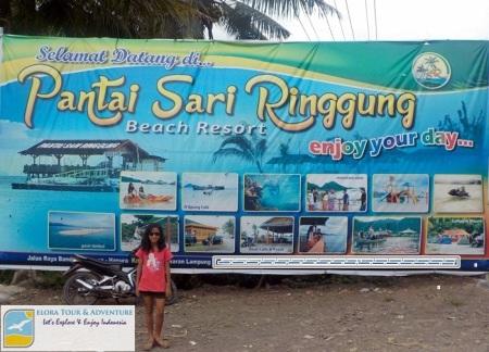 Pantai Sari Ringgung - Baliho