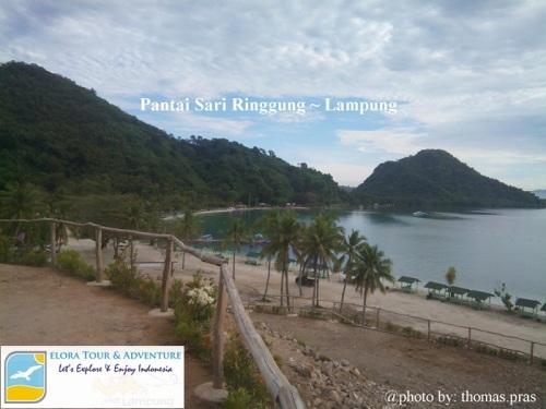 Pantai Sari Ringgung - view dari bukit