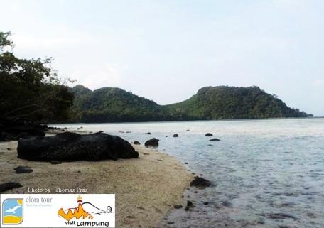 Panorama Sore di Pulau Kelagian Lunik