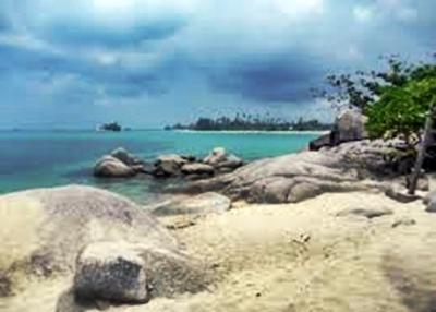 Pantai Trikora di Provinsi Kepulauan Riau