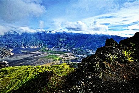 Gunung Tambora di nusa tenggara barat
