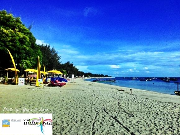 pantai gili trawangan lombok nusa tenggara varat