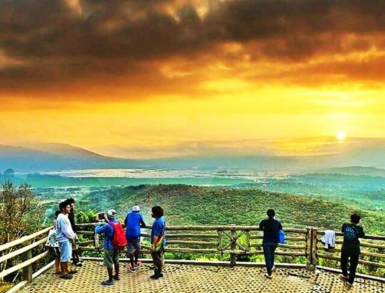 goa rong view spot hits menikmati sunrise dan sunset di kabupaten semarang